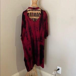 Red Choker Tye Dye Dress